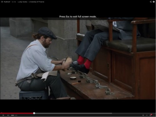 """Lucky Socks"" video Shoe Shiner"