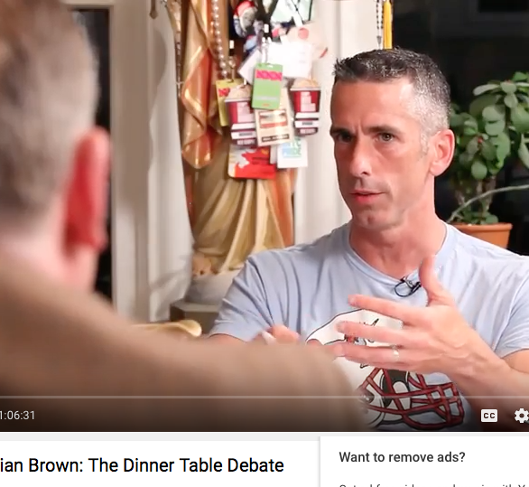Dan Savage and Brian Brown