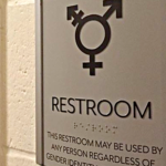 Gender Neutral Bathroom sign