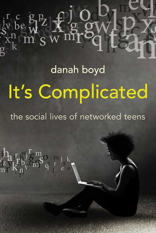 dana boyd's It's Complicated cover, featuring a person typing while seated