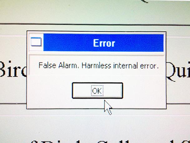 False alarm error.