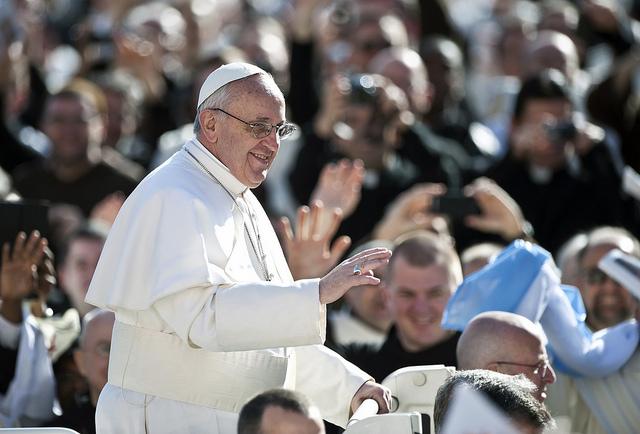 Pope Francis https://www.flickr.com/photos/catholicism/8572649884